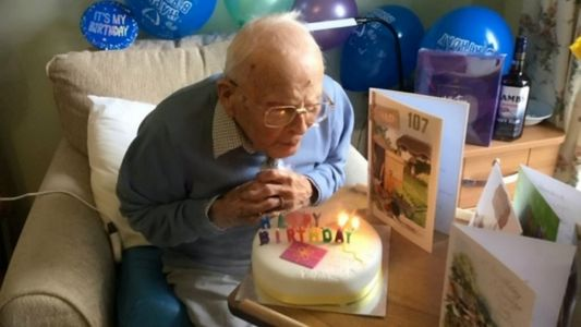 War hero celebrates 107th birthday alone because nobody's allowed to visit care home