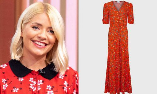 Holly Willoughby's stunning floral midi dress wows This Morning fans - and it's still in stock