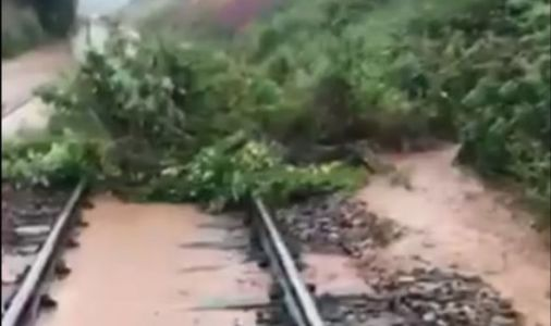 Stonehaven tragedy: Dramatic video shows severe flooding on tracks near train crash horror