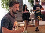 Shia LaBeouf spotted again with gorgeous mystery woman leaving Swinger's diner in West Hollywood