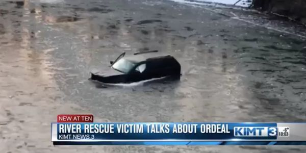 A drowning man in Iowa was saved from his sinking car because he shouted 'Siri, call 911'