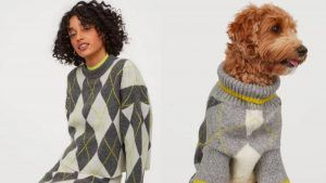 H&M is selling and matching jumpers for dogs and their owners
