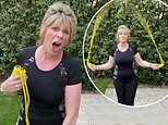 Ruth Langsford, 60, works up a sweat as she engages in a daily skipping challenge