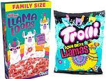 Food brands are now making cakes, cereal, candy, and popcorn featuring LLAMAS