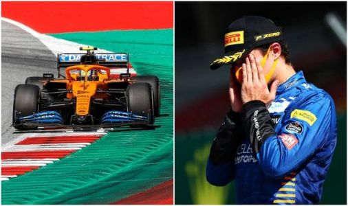 Lando Norris 'speechless' after Lewis Hamilton penalty helps McLaren ace land first podium