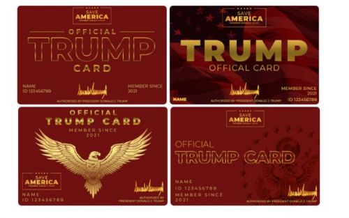 People Think There's Something 'Third Reich' About Trump's New Cards For Supporters