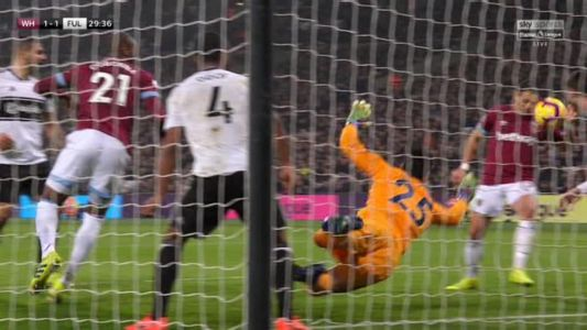 Javier Hernandez blatantly punches in for West Ham.. and fans can't believe goal is given