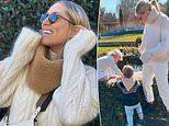 Former WAG Phoebe Burgess nails her off-duty winter style during time with children