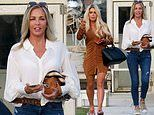 Bianca Gascoigne, 35, enjoys a spot of lunch with her age-defying mother Sheryl, 56, in Italy