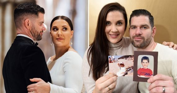 Couple who met at a play date as five-year-olds get married for the second time