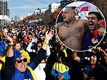 Boca Juniors and River Plate fans party on the streets of Madrid