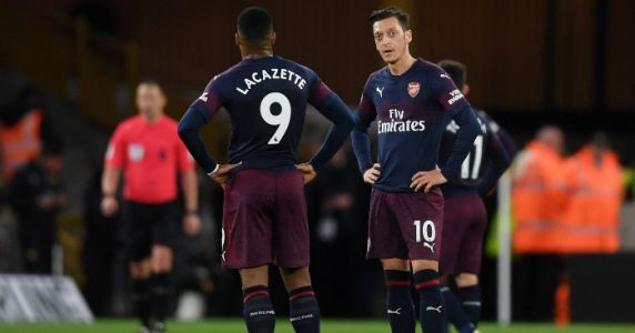 Arsenal suffer top four blow in loss against rampant Wolves