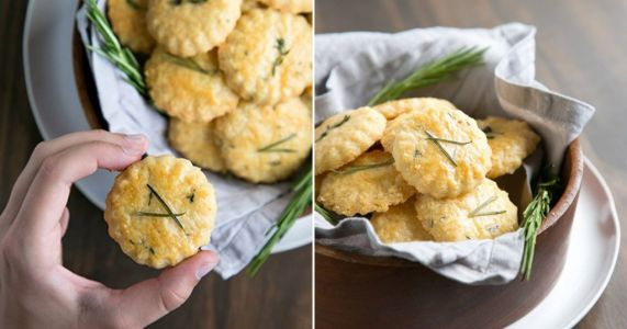 Bake savoury cheese cookies with just three ingredients