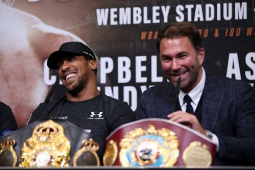 Eddie Hearn names who he wants Anthony Joshua to face after Jarrell Miller's failed drugs test