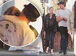 Ashley Benson is spotted with her new man Colby Ammerman who gives her a passionate kiss