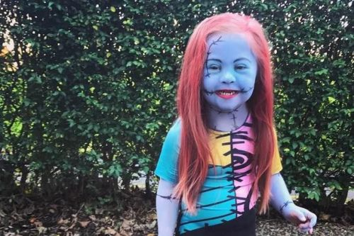 Little Scots girl with Down's celebrates Halloween with a different outfit daily