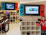 Mum creates incredible gaming feature wall for her son's bedroom - and it only cost $100 to build