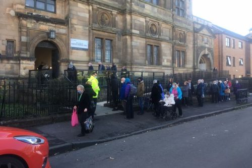 Scots pensioners queue for hours in the cold for jags after suspected booking service failure