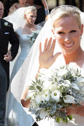 Zara Phillips wedding dress: A look back at Mike Tindall's pregnant wife's bridal gown following Royal Wedding