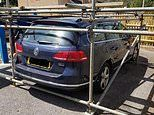 Parking space row escalates as neighbour cages car in scaffold