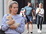 Love Island's Molly-May Hague takes adorable new Pomeranian puppy Mr Chai out for his first walk