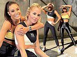 Pip Edwards shows off her abs as she hangs out with equally buff fitness queen Kayla Itsines