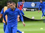 Chelsea's £37m new boy Hakim Ziyech trains with Blues team-mates for the first time