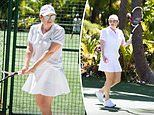 Rebel Wilson shows off her 30kg weight loss in a white tennis outfit in birthday throwbacks