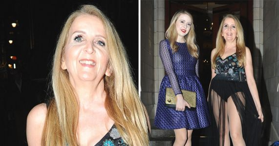 Gillian McKeith's latest red carpet look is as extravagant as ever as daughter Skylar tones it down a notch