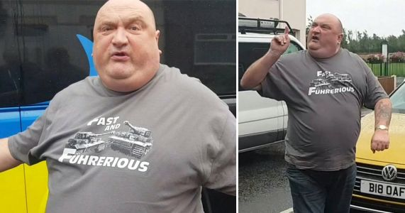'Big oaf' driver claims video of road rage rant violated his human rights