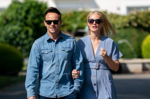 Ant McPartlin couldn't look happier as takes a walk with future wife Anne-Marie