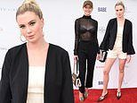 Ireland Baldwin and Lala Kent roll out their poolside fashion for charity event in West Hollywood