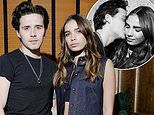 Brooklyn Beckham lovingly plants a kiss on new model girlfriend Hana Cross' cheek
