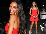 Tinashe puts on a very leggy display while leaving Winnie Harlow's birthday party in Los Angeles