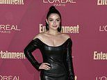 Ariel Winter puts on a busty display in plunging leather mini dress at pre-Emmy party