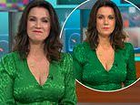 Susanna Reid 'distracts' Good Morning Britain viewers as she stuns in low-cut green dress
