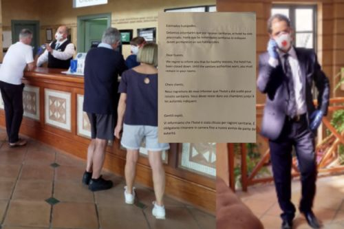 Scots tourist on Coronavirus lockdown in Tenerife hotel reveals guests stuck in rooms as cops stand guard