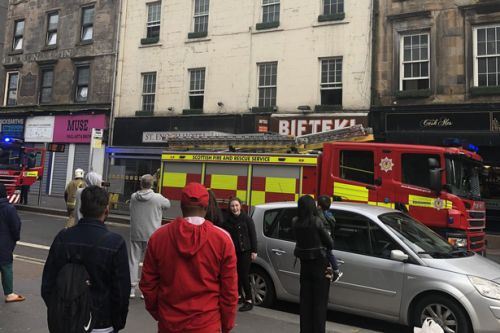 Fire hits St Enoch Hotel in Glasgow city centre as crews rush to tackle blaze