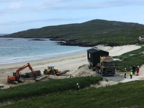 Harris beach gets delivery of vital new water treatment equipment