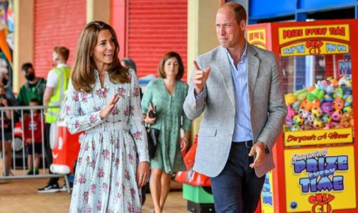 Prince William and Kate Middleton surprise locals on Barry Island in first joint engagement after lockdown - best photos