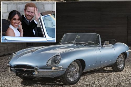 'The most beautiful electric car in the world': Incredible story behind Prince Harry and Meghan Markle's E-type Jaguar they drove away in