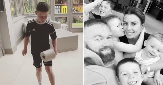 Here's how Wayne and Coleen Rooney's kids are enjoying lockdown - from homeschooling to following in dad's footsteps