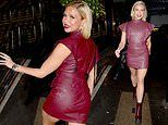 Love Island's Gabby Allen sizzles in form fitting red dress and sky high heels for night of partying