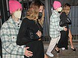 Justin Bieber's wife Hailey goes glam for romantic meal with pop heartthrob