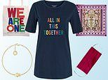 Fashioned with love: FEMAIL picks out stylish pieces from brands showing support to charities
