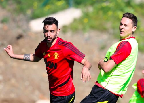 Nemanja Matic pokes fun at Bruno Fernandes and Sporting in Manchester United training