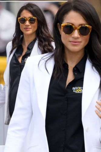 Meghan Markle sunglasses: The Duchess of Sussex wears 'groovy' and affordable shades while at the Invictus Games 2018 with Prince Harry