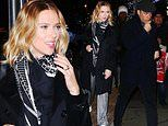 Scarlett Johansson flashes engagement ring with fiance Colin Jost
