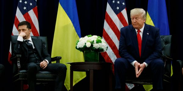 Ukraine just threw a huge wrench into Trump's key defense denying a quid pro quo