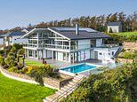 Clifftop eco-home made of glass with sea views, infinity pool and private beach on sale for £3m